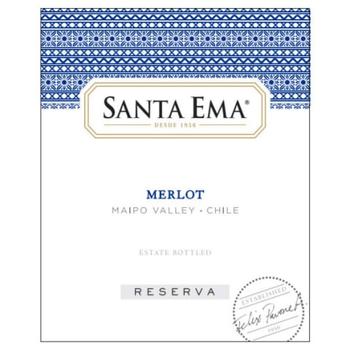 Santa Ema Santa Ema Merlot Reserve 2017<br />Maipo, Chile