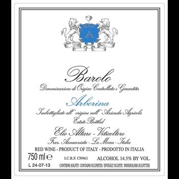 Altare Elio Altare Barolo Arborina 2013<br />Piedmont, Italy<br /> 96pts-WA