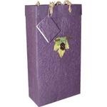 Bella Vita Handmade Paper Two Bottle Violet Grape Gift Bag