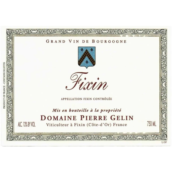 Domaine Pierre Gelin Fixin 2017<br /> Burgundy, France<br /> 90pts-WS