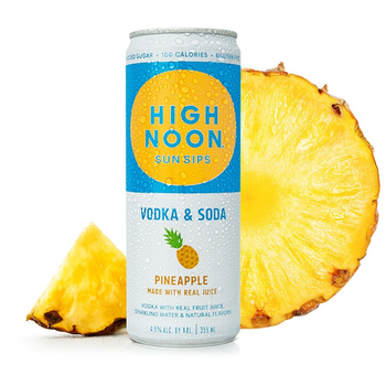High Noon Sun Sips Vodka & Soda<br /> Pineapple   Priced Per Can