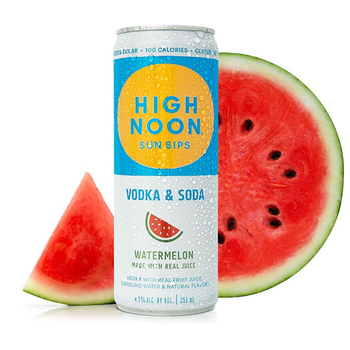 High Noon Sun Sips Vodka & Soda Watermelon   Priced Per Can
