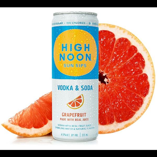 High Noon Sun Sip Vodka & Soda Grapefruit   Priced Per Can