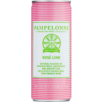 Pampelonne Sparkling Wine Rose Lime   Priced Per Can