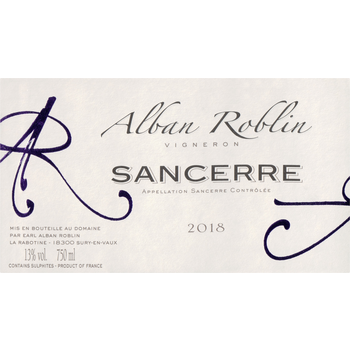 Alban Roblin Sancerre 2018<br /> Loire, France