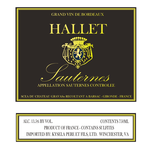 Ch Hallet Sauternes 2018<br />