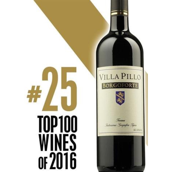 Villa Pillo Borgoforte 2014 1.5 Liter<br /> Tuscany, Italy<br /> 91pts-WS   #25 Wine Spectator Top 100 of 2016