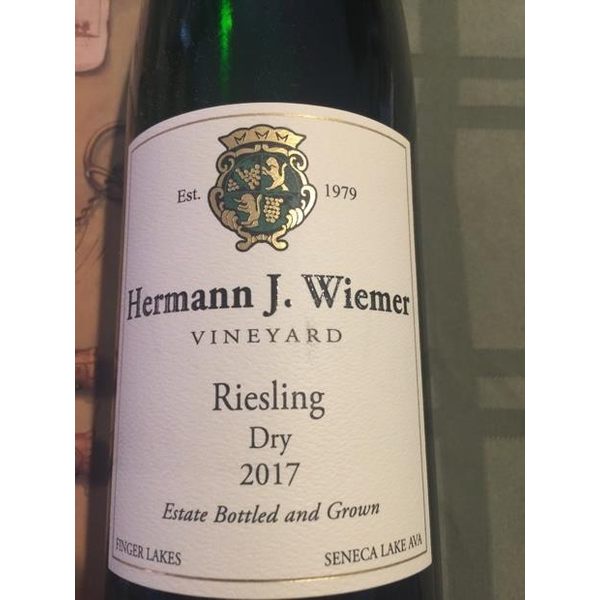 Hermann Wiemer Riesling Dry 2017<br />Finger Lakes, New York