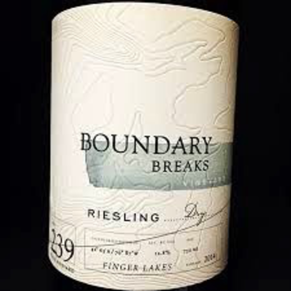 Boundary Breaks Vineyard Dry Riesling #239 2018<br /> Finger Lakes, New York<br /> 92pts-WE