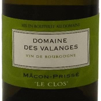 "Dm Des Valanges Domaine Des Valanges Macon-Prisse ""Le Clos"" 2018 <br /> Burgundy, France<br /> 90pts-RP"
