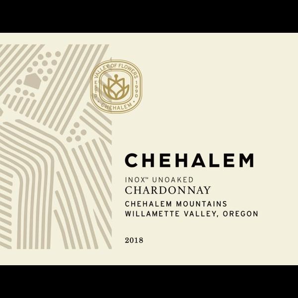 Chehalem Chehalem INOX Chardonnay 2018<br /> Willamette Valley, Oregon<br /> 91pts-JS