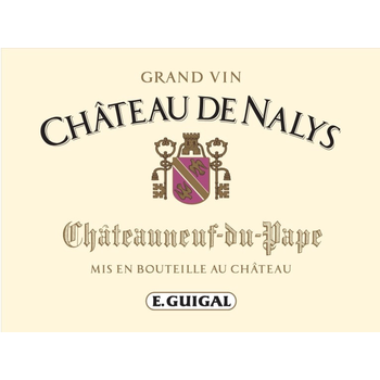 E. Guigal Ch De Nalys Chateauneuf-du-Pape Rouge Grand Vin 2016<br /> Rhone, France<br /> 95pts-WA, 93pts-JS, 92pts-D