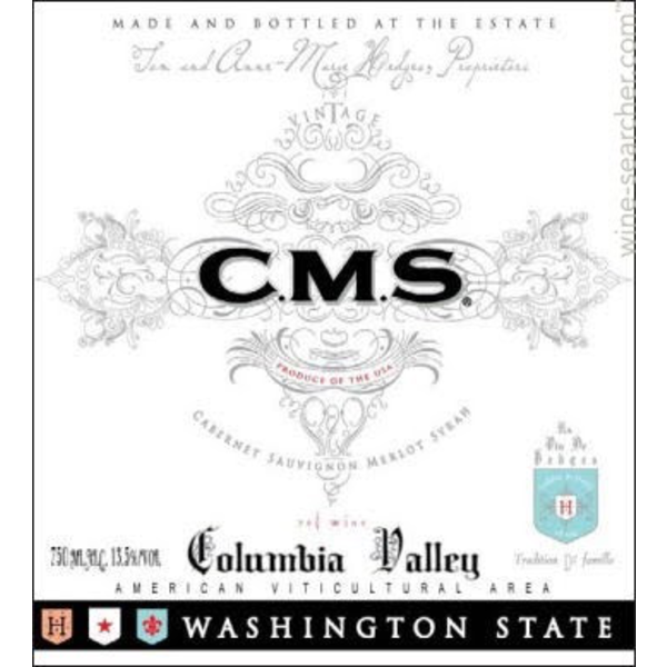 Hedges Hedges Family Estate CMS Red Blend 2018<br />Columbia Valley, Washington