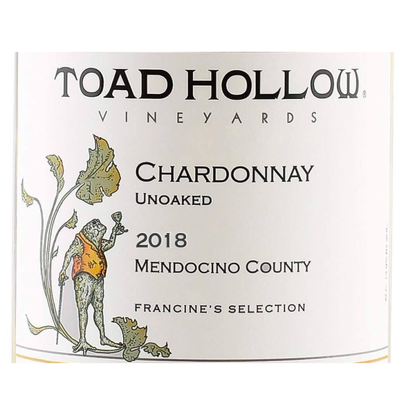 Toad Hollow Vineyards Francine's Selection Unoaked Chardonnay 2019<br /> Mendocino County, California