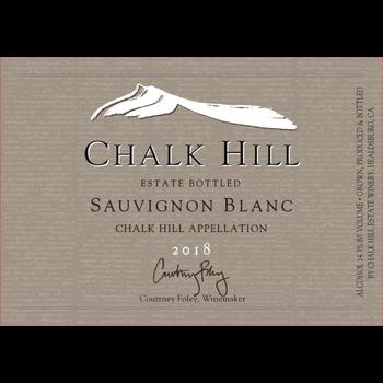 Chalk Hill Estate Sauvignon Blanc 2018<br /> Chalk Hill, Sonoma County, California<br /> 90pts-WE