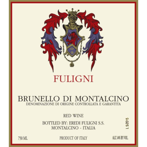 Fuligni Brunello di Montalcino 2015<br /> Montalcino, Tuscany, Italy<br /> 100pts-JS, 98pts-WE