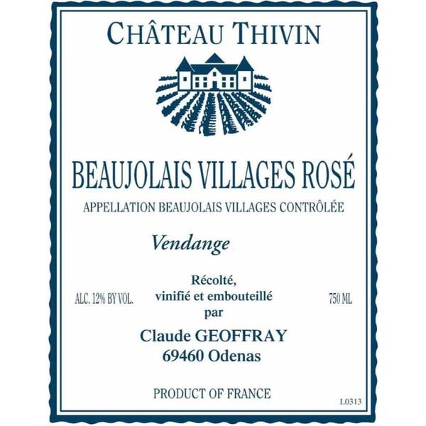 Chateau Thivin Beaujolais Villages Rose 2019<br /> Beaujolais, France<br /> 90pts-JS