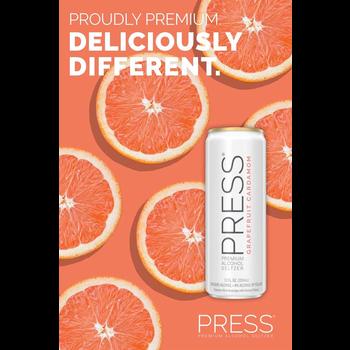 Press Malt Seltzer Grapefruit Cardamom Priced Per Can