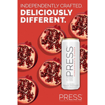 Press Malt Seltzer Pomegranate Ginger  Priced Per Can
