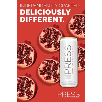 Press Malt Seltzer Pomegranate Ginger  Priced Per Can