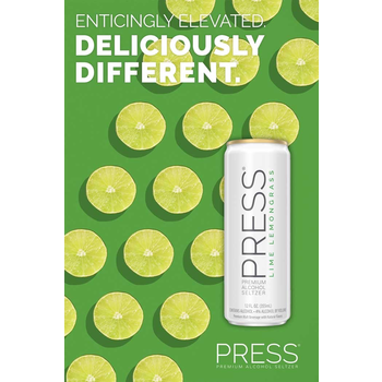 Press Malt Seltzer Lime Lemongrass  Priced Per Can