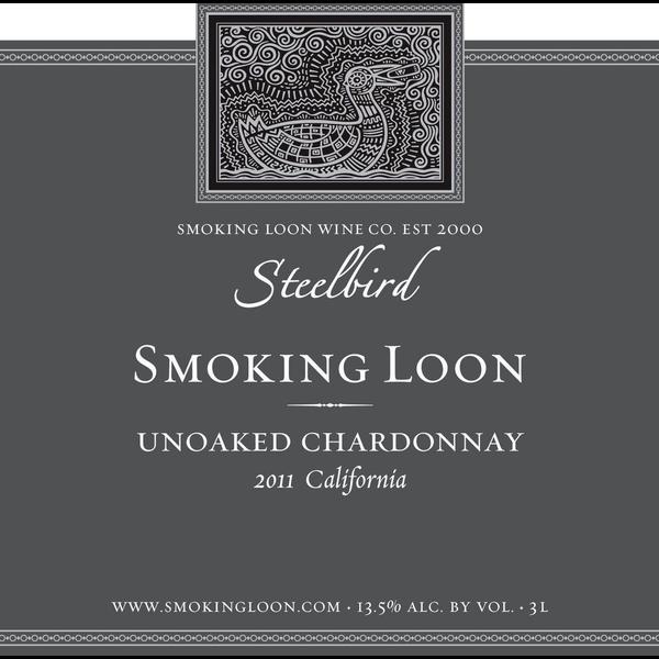 Smoking Loon Wine Comapany Smoking Loon Steelbird Unoaked Chardonnay 2019<br /> California
