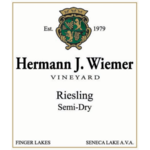 Hermann J. Wiemer Semi-Dry Riesling 2019<br /> Finger Lakes, New York