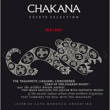 Chakana Chakana Estate Malbec 2019<br />Mendoza, Argentina<br />90pts-JS