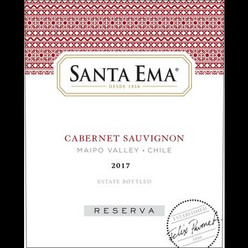Santa Ema Santa Ema Reserva Cabernet Sauvignon 2017<br /> Maipo Valley, Chile<br /> 90pts-JS