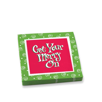 Epic Get Your Merry On Cocktail Napkins