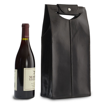 Epic Leather Wine Bag Black 2-Bottle