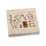 Epic Wine Letters Dinner Napkins Set of 20