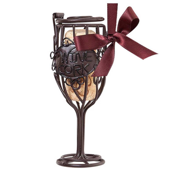 Epic Cork Cage Wine Glass Ornament