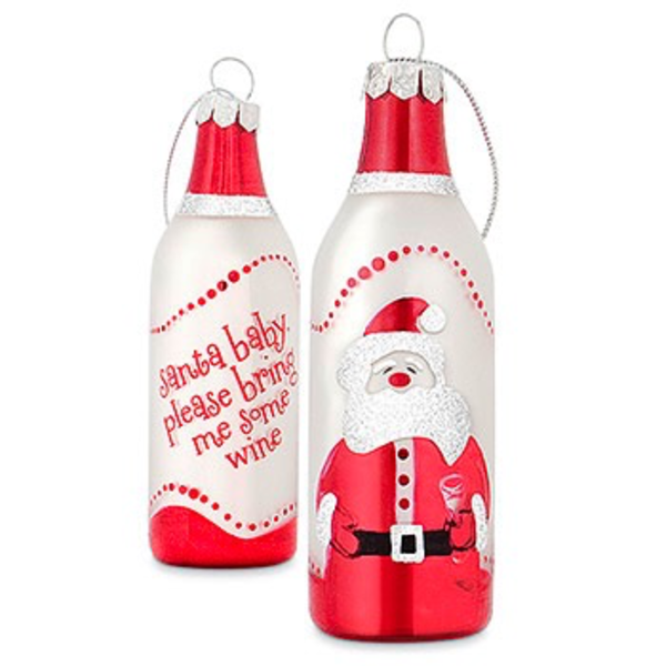 Epic Santa Baby Wine Bottle Ornament