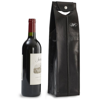 Epic Leather Wine Bag Black 1 Bottle