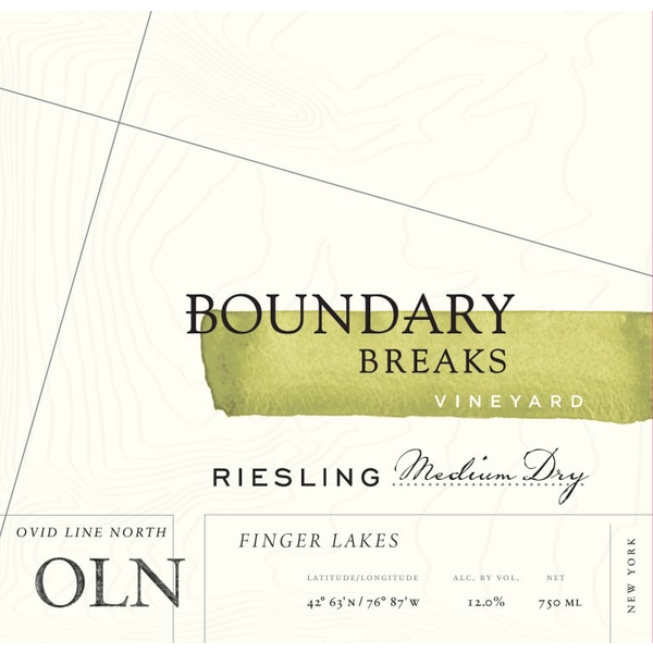 Boundry Breaks Vineyards Ovid Line North Riesling 2018  <br /> Finger Lakes, New York