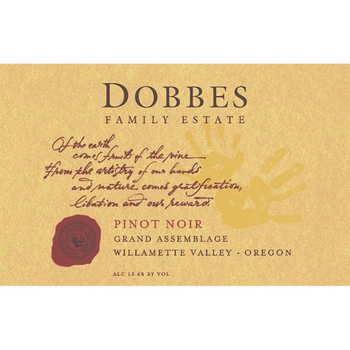 Dobbes Family Estate Grand Assemblage Pinot Noir 2015 Willamette, Oegon<br /> 92pts-WA