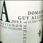 Dm Guy Allion Domaine Guy Allion Sauvignon Blanc 2019 <br /> Loire, France