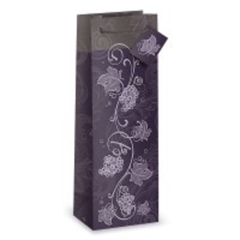 Epic Purple Grapevine One Bottle Wine Gift Bag