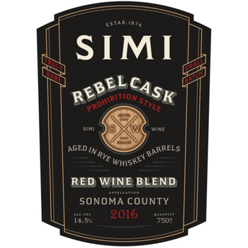 Simi Simi Rebel Cask Whiskey Barrel Red Blend 2016<br /> Sonoma, California
