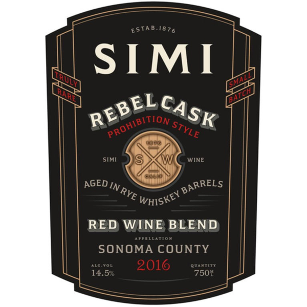 Simi Simi Rebel Cask Whiskey Barrel Red Blend 2016<br /> Sonoma, California