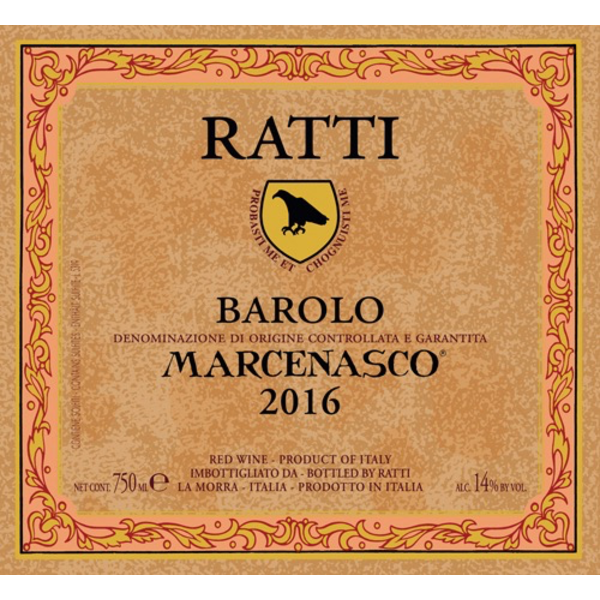 Renato Ratti Renato Ratti Marcenasco Barolo 2016  <br /> Piedmont, Italy  <br /> 97pts-WE, 94pts-WA, 92pts-JS