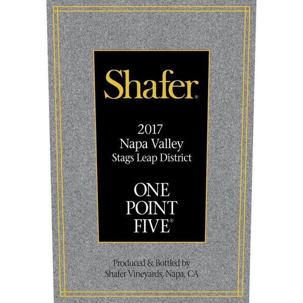 Shafer Cabernet One Point Five Stags Leap District Napa 2017<br /> Napa Valley, California<br /> 95pts-JS, 94pts-WE, 91pts-WA