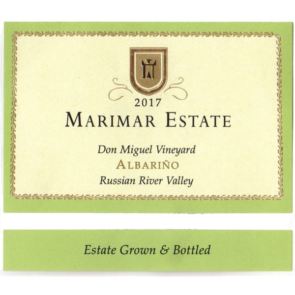 Marimar Estate Don Miguel Vinyard Albarino 2017<br /> Russian River, Sonoma County, California<br /> 91pts-WE, 90pts-WS