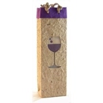 Bella Vita Purple Wine Glass One Bottle Gift Bag