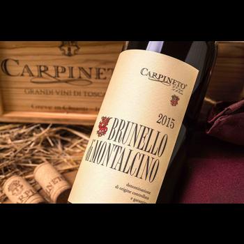 Carpineto Brunello di Montalcino 2015 <br /> Montalcino, Tuscany, Italy<br /> 95pts-WS, 91pts-D
