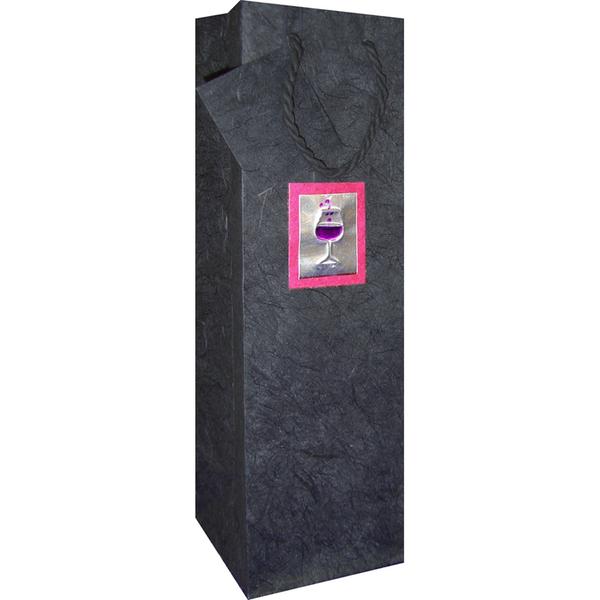 Bella Vita Deco Glass One Bottle Gift Bag