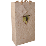 Bella Vita Natural Handmade Paper Double Bottle Gift Bag