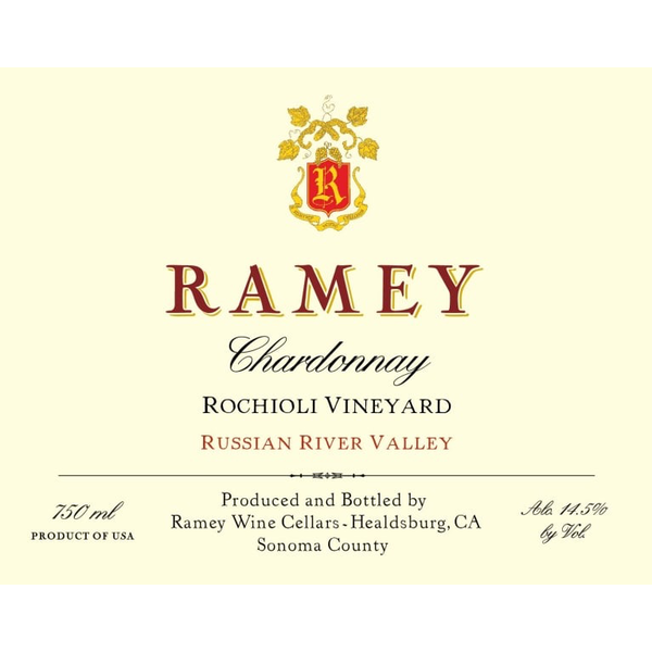 Ramey Rochioli Vineyards Chardonnay 2016<br /> Russian River, Sonoma County, California<br /> 98pts-WE, 94pts-WE