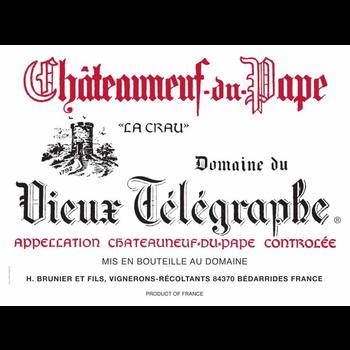 """Dm Vieux Telegraphe Domaine du Vieux Telegraphe """"La Crau"""" Chateauneuf-Du-Pape 2018<br />Rhone, France  <br /> 98pts-JS, 96pts-WA, 93pts-D"""